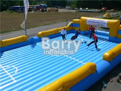 China Supplier Inflatable Soccer Carnival Game/Inflatable Soap Soccer Field Price BY-IS-001